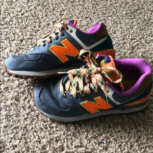New Balance neon colored sneakers